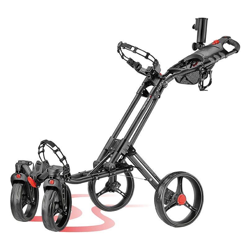 CaddyTek Golfvagnar - CaddyCruiser One 4 Hjul Golfvagn-Svart