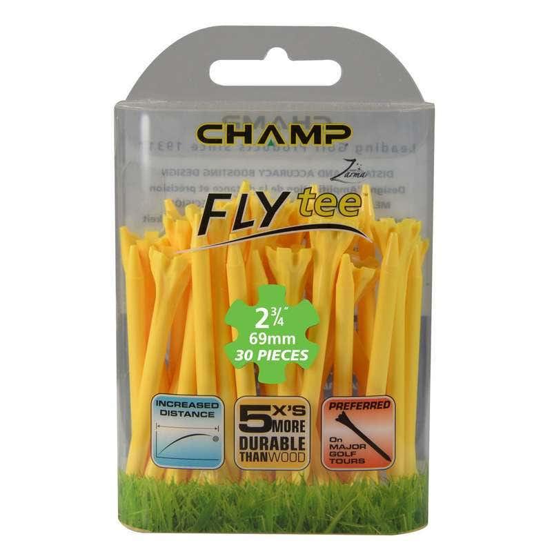 Camp Golfpeggar - Champ Zarma FLYTee Golfpeggar 2 3/4 (70 mm) Natural-30 Pack