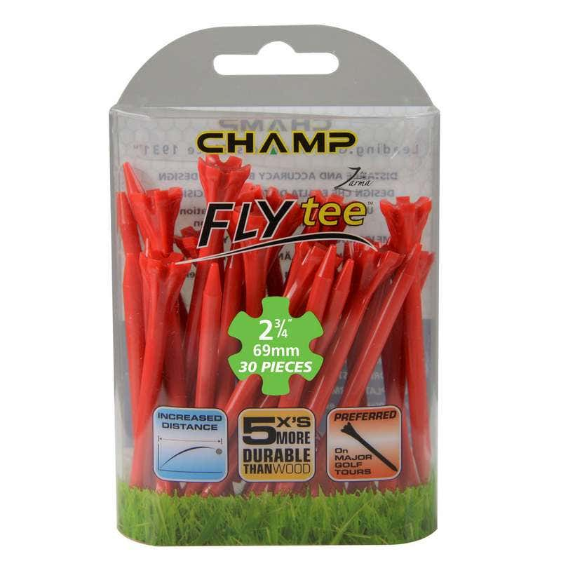 Camp Golfpeggar - Champ Zarma FLYTee Golfpeggar 2 3/4 (70 mm) Röda-30 Pack