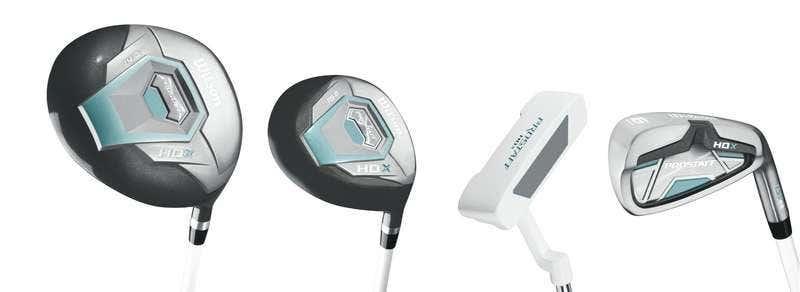 Golfset - Wilson ProStaff Dam HDX 1W + 5W + 6-SW + Putter Golfset Grafit/Stålskaft -höger