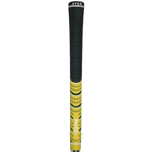 "Avon Pro D2x Gul/Svart 0.580"""" Golfgrepp - Grepptejp ingår"