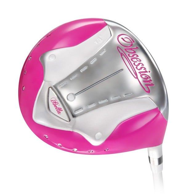 iBella golf driver - iBella Obsession Pink Titanium Driver Höger Golfklubbor