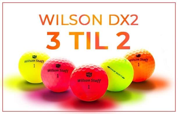 Wilson DX2 bolde - 3 til 2