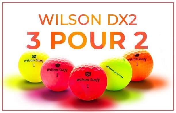 Wilson DX2 balles de golf - 3 pour 2