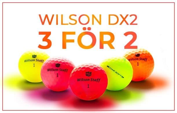Köp Wilson DX2 bollar - 3 för 2
