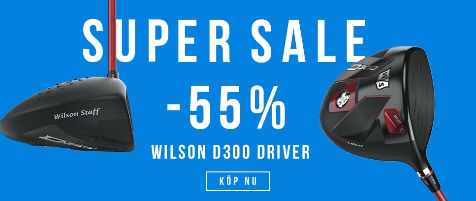 SUPER SALE PÅ WILSON D300 DRIVERS 55% RABATT