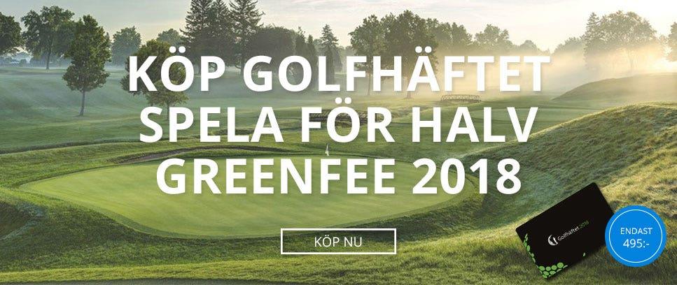 Köp Golfhäftet och spela till halv greenfee på 900 banor!