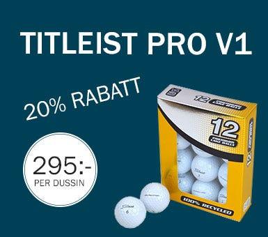 Titleist Pro v1 klass A bollar - 20% rabatt
